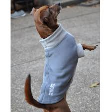 Dog Fleece Coat Gray Two Tone
