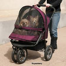 Pet Gear No-Zip Double Dog Stroller Jogger Boysenberry