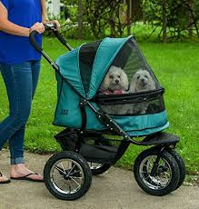 Pet Gear No-Zip Double Dog Stroller Jogger Green