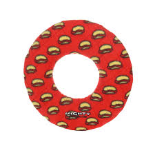 Mighty Dog Toy Red Ring Hot Dogs Large