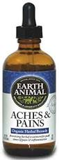 Earth Animal Aches & Discomfort Supplement for Dogs, 2-oz Bottle