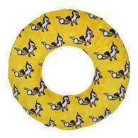 Mighty Dog Toy Yellow Ring Unicorns Large