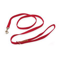 Luxury Dog Leash Red Ultrasuede® 4', 5', 6'