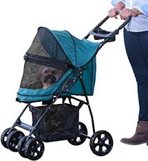 Pet Gear Happy Trails No-Zip Dog Stroller Green