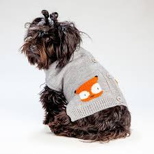 Dog Sweater Fox Cardigan