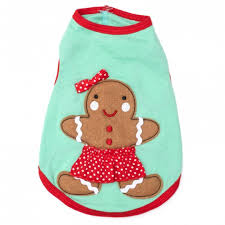 Dog Tank Top Christmas Gingerbread Girl