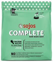 Sojos Complete Chicken Recipe Adult Grain-Free Freeze-Dried Raw Dog Food