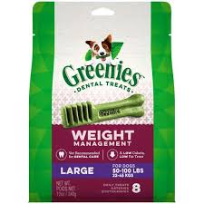 Greenies Weight Management Large Dental Dog Chews, 12 oz., Count of 8