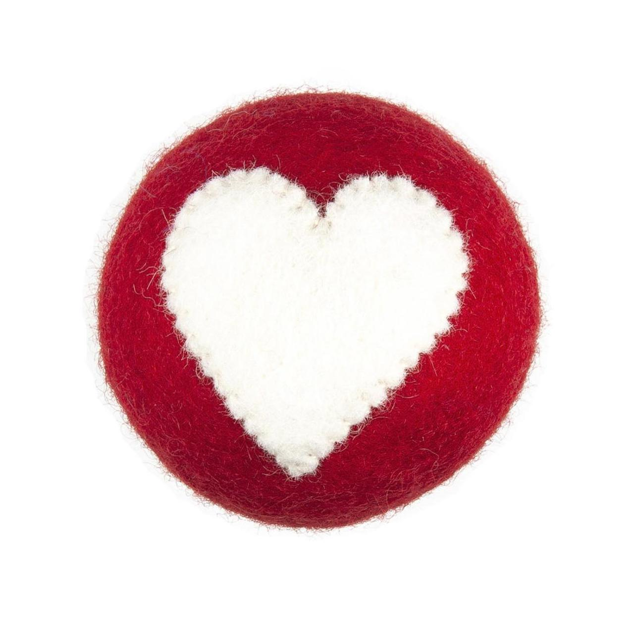 Dog Toy Heart Ball by RC Pets