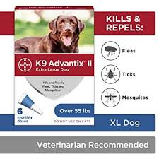 K9 Advantix II Veterinarian-recommended to kill Fleas, Flea Larvae, Ticks, Mosquitoes, Lice, waterproof