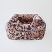 Luxury Dog Bed Plush Leopard Animal Mink