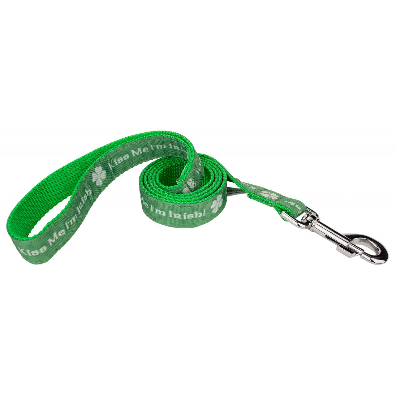 Dog Leash Saint Patrick's Day Holiday Green Medium, Large X-Large