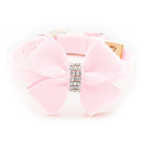Nouveau Bow Collar puppy pink