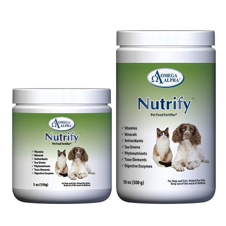 Omega Alpha Dog Supplement Nutrify for additional vitamins, minerals, antioxidants