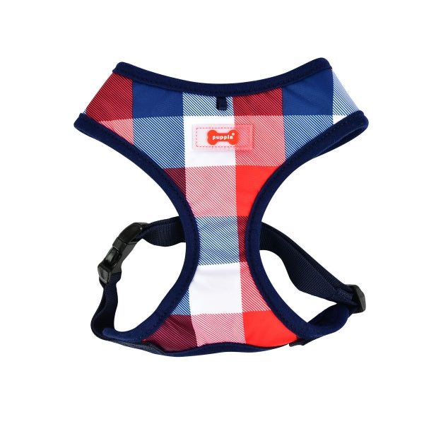 Dog Harness USA Patriot Red White Blue Check