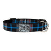 Dog Collar Black Blue Plaid by RC Pets Small