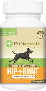 Pet Naturals of Vermont Hip+Joint Dog Supplements 90 count
