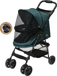 Pet Gear Happy Trails Lite No-Zip Dog Stroller Pine Green