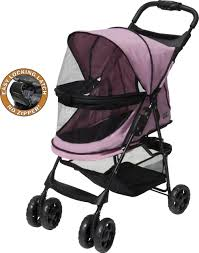 Pet Gear Happy Trails No-Zip Dog Stroller Pink