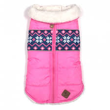 Dog Coat Pink Aspen Alpine Puffer