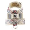 Luxury Dog Leash Beige Plaid Bow Ultrasuede®