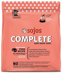 Sojos Complete Pork Recipe Adult Grain-Free Freeze-Dried Raw Dog Food