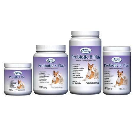 Dog Supplement Probiotic 8 Plus Healthy Digestive Tract & Gut by Omega Alpha