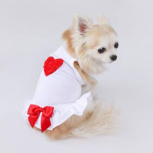 Dog Dress Red Heart