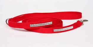 Dog Collar Red Bow Swarovski Crystals® Ultrasuede®