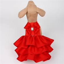 Dog Dress Red Holiday, Wedding, Celebrations, Parties