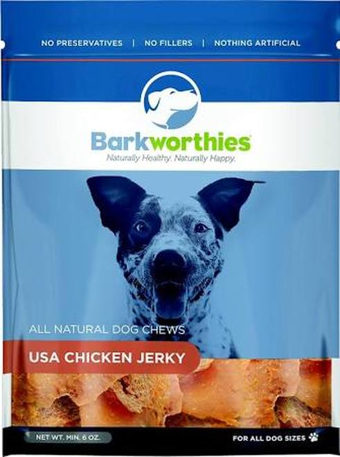 Barkworthies Chicken Jerky Dog Treats 4oz