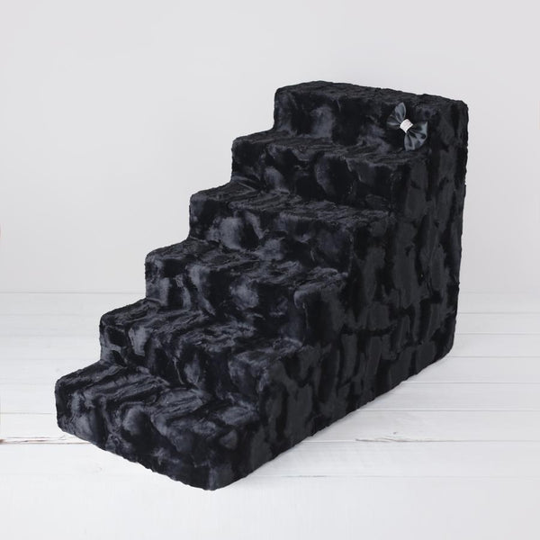 Luxury Dog Stairs Black 4 and 6 steps