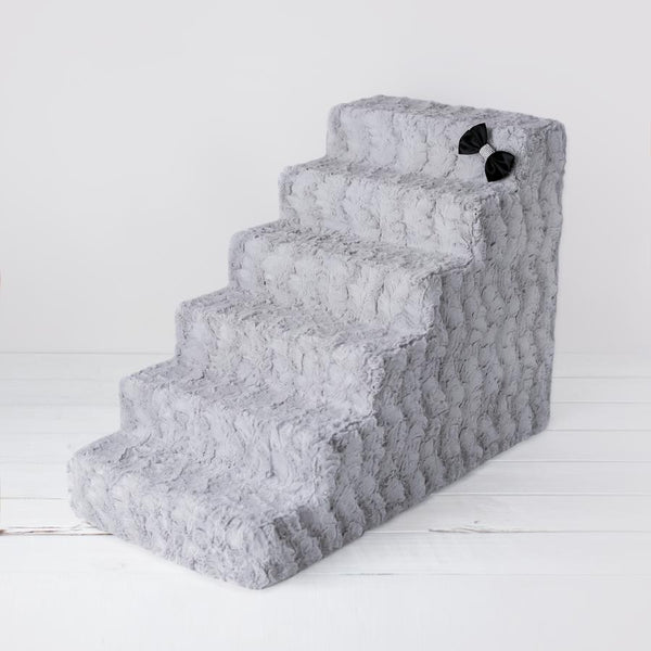 Luxury Dog Stairs Grey 4 and 6 steps