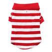 Dog Polo Shirt Red & White Striped