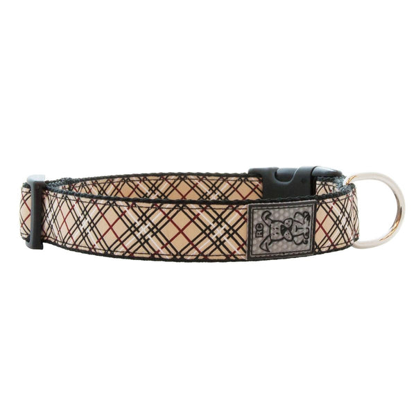 Dog Collar Plaid Beige by RC Pets Small