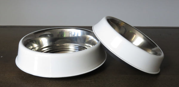 JoJo Modern Dog Bowl White 8oz