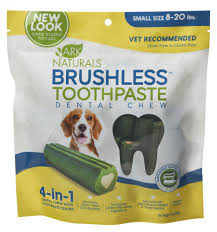 Ark Naturals Brushless Toothpaste Dental Dog Chews Small