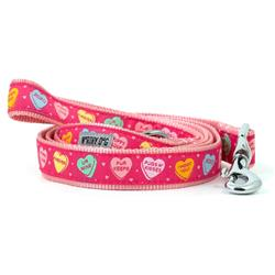 Dog Leash Valentine's Pink Hearts