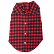 Dog Shirt Buffalo Red Black Plaid