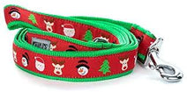 Dog Leash Christmas Tree Santa Reindeer Snowman (matching collar available)