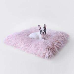 Luxury Dog Bed Blush Pink Mat Himalayan Yak Fur