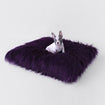 Luxury Dog Bed Purple Mat Himalayan Yak Fur