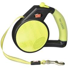 Dog Leash Retractable Gel Handle Yellow