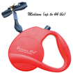 Retractable Dog Leash Red Medium by Parisian Pet