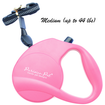 Retractable Dog Leash Pink Medium by Parisian Pet