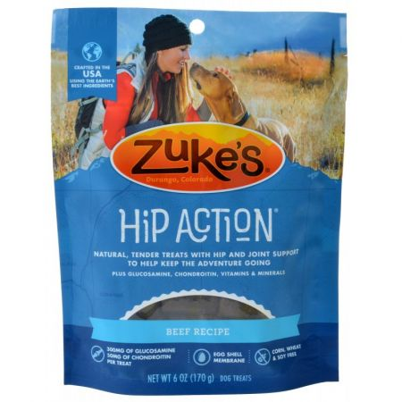 Zukes Hip Action Hip & Joint Supplement Dog Treat Roasted Beef Recipe