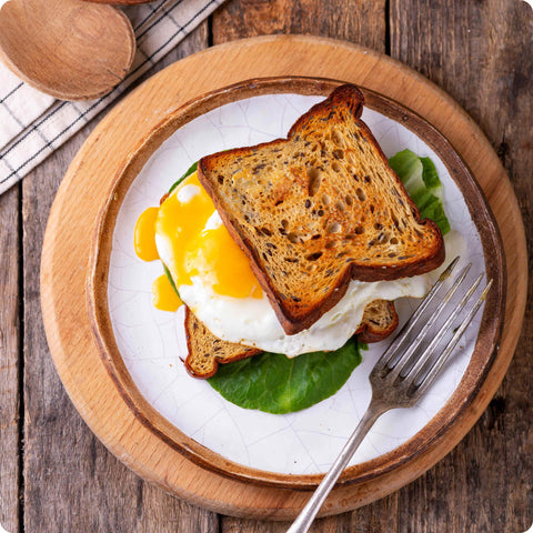 KetoUp toast with egg