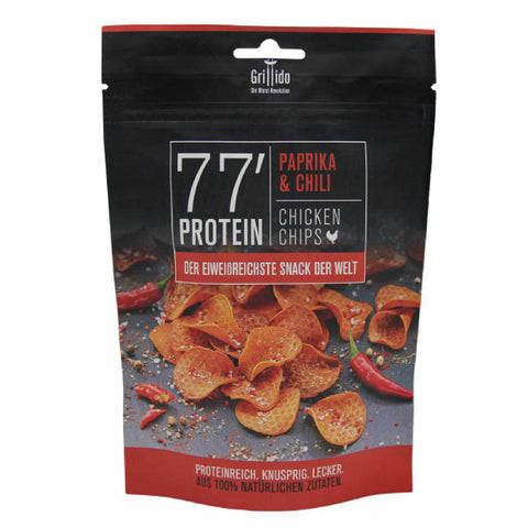 Grillido Chicken Chips Chili & Paprika <span> 25g (19,96 € / 100g) </span> - Boutique en ligne KetoUp