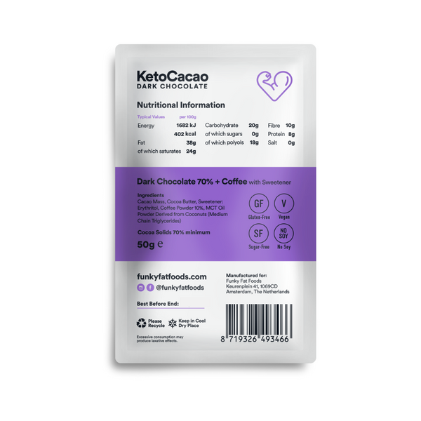 Funky Fat Foods KetoCacao Coffee 50g (9,78 € / 100g) - KetoUp online shop