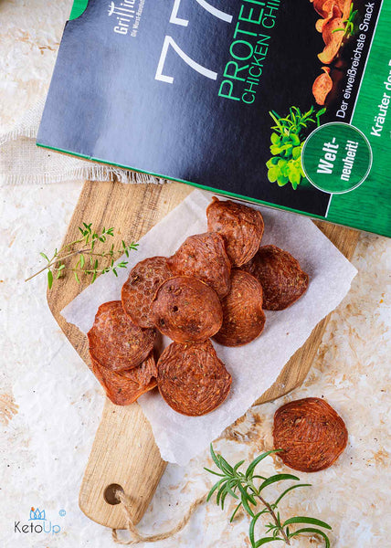 Grillido Chicken Chips Herbs of Provence 25g (19,96 € / 100g) - KetoUp online shop